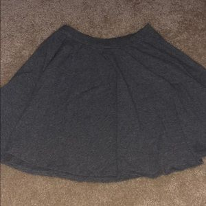 abercrombie and fitch gray mini skirt